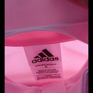 Adidas 2pc jacket & pants set  girls size 6